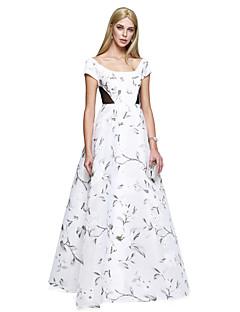 Linia -A Lungime Podea Satin Bal Seară Formală Rochie cu Pană / Blană de TS Couture®