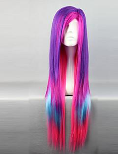 Lolita Wigs Punk Lolita Color Gradient Lolita Wig 80 CM Cosplay Wigs Patchwork Wig For