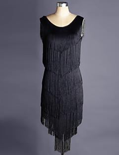 私たちはラテンダンスドレス女性のパフォーマンスorganzaドレスをしなければならない