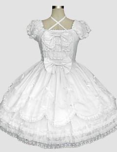billiga Lolitaklänningar-Söt Lolita Rokoko Dam Klänningar Cosplay Kortärmad Lång längd