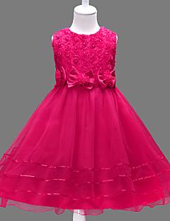 tanie Odzież dla dziewczynek-Sukienka Dziewczyny Kwiaty Lato Bez rękawów Koronka White Purple Fuchsia Czerwony Różowy