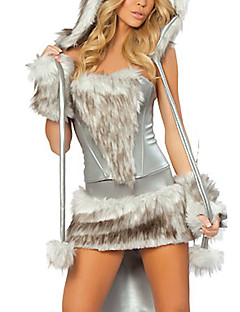 Hayvan Cosplay Kostümleri Parti Kostümleri Kadın Cadılar Bayramı Karnaval Yeni Yıl Festival / Tatil Cadılar Bayramı Kostümleri Gümüş+Gri