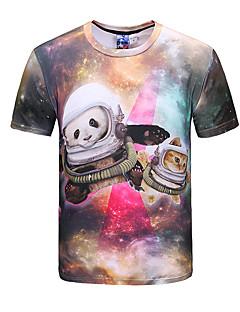 お買い得  メンズTシャツ&タンクトップ-男性用 パーティー クラブ - プリント Tシャツ ラウンドネック