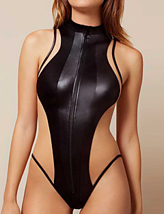 Women's Sexy One-piece Swimwear Solid Patchwork Polyester / Nylon Black
