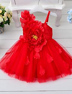 שמלה קיץ ללא שרוולים ליציאה אחיד הילדה של