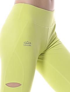 billige Løbetøj-Yokaland Dame Løbetights / Træningsleggings Sport Tights / Underdele Yoga, Pilates, Træning & Fitness Hurtigtørrende, Åndbart,