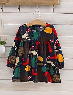 tanie Odzież dla dziewczynek-Bluzka Dla dziewczynek Codzienny Wiosna Jesień Długi rękaw Kreskówka Beige Ciemno niebieski