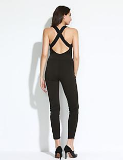 billige Jumpsuits og sparkebukser til damer-Dame Kjeledresser - Ensfarget Dyp V