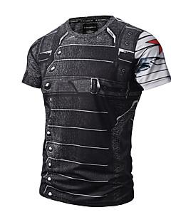 preiswerte -Herrn Aktiv Punk & Gothic Baumwolle T-shirt, Rundhalsausschnitt Druck