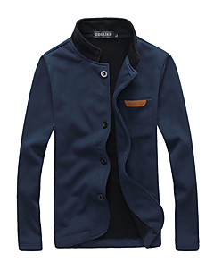 cheap Men's Jackets-Men's Jacket - Solid Stand