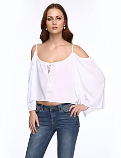 Χαμηλού Κόστους Chic Sexy Shirts-Γυναικεία Μπλούζα Μονόχρωμο Τιράντες Εξώπλατο Ρεϊγιόν