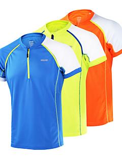 billiga Träning-, jogging- och yogakläder-Arsuxeo Herr Rund hals T-shirt för jogging - Orange, Ljusgul, Himmelsblå sporter Överdelar Fitness, Gym, Träna Kortärmad Sportkläder Andningsfunktion, Snabb tork, Antistatisk Oelastisk