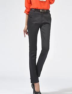 billige Nederdele og bukser til damer-Dame Plusstørrelser Bomuld Skinny Jeans Bukser Ensfarvet