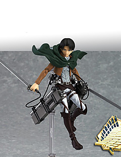 billige Anime cosplay-Anime Action Figurer Inspirert av Attack on Titan Mikasa Ackermann PVC 14 CM Modell Leker Dukke