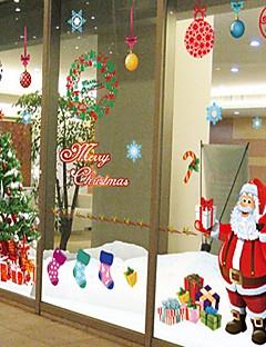 Χαμηλού Κόστους Christmas Stickers-Διακοσμητικά αυτοκόλλητα τοίχου - Αεροπλάνα Αυτοκόλλητα Τοίχου Ρομάντζο / Χριστούγεννα / Διακοπών Καταστήματα / Καφετέριες