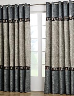billige Forede Gardiner-gardiner gardiner Stue Ensfarget Polyester