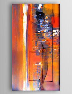 baratos Paisagens Abstratas-Pintura a Óleo Pintados à mão - Paisagem Modern Tela de pintura / Lona esticada