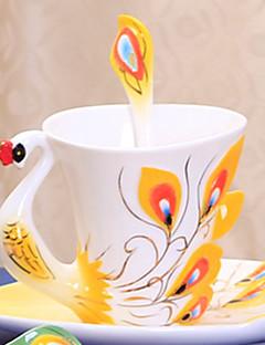 Moderne Drikkeredskaber Tekopper Vinglas Vandflasker Kaffekrus Te & Varme Drikke 1 PC Keramik, -  Høj kvalitet