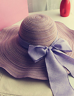 cheap Accessories' New Ins-Women's Vintage Outdoor Straw Hat Sun Hat - Solid Colored, Bow