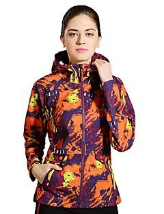 女性用 ハイキング ジャケット アウトドア 冬 防水 速乾性 防風 抗紫外線 高通気性 反射性ストリップ ソフトシェルジャケット トップス キャンピング&ハイキング