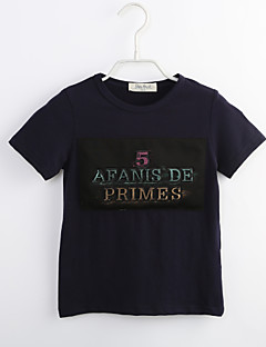 Junge T-Shirt Lässig/Alltäglich Einfarbig Baumwolle Sommer Kurzarm