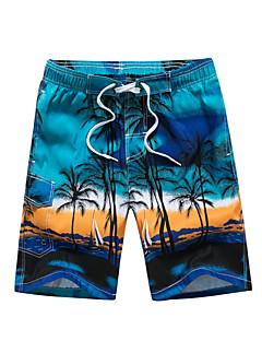 billige Herrebukser og -shorts-Herre Bohem Store størrelser Løstsittende Shorts Bukser - Trykt mønster Lapper