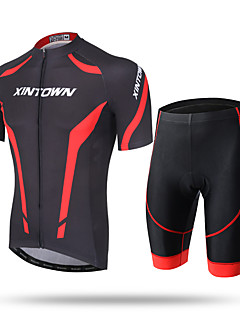 cheap Cycling Clothing-XINTOWN Men's Short Sleeves Cycling Jersey with Shorts - White Red Blue Bike Shorts Jersey Pants / Trousers Clothing Suits, Quick Dry,
