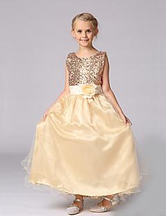 Mädchen Kleid einfarbig Polyester Sommer Ärmellos