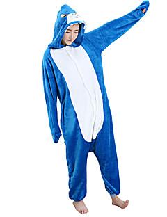Kigurumi Pyjamas Hai Kostume Blå Cosplay Kostumer Trikot / Heldraktskostymer Cosplay Festival / høytid Pysjamas med dyremotiv Halloween