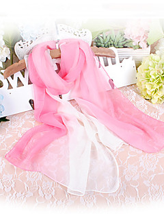Women Chiffon Scarf,Cute Party Casual Rectangle,Red Black Blue Pink Purple,Color Block