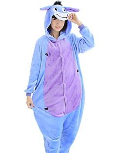 billige Kigurumi-Kigurumi Pyjamas Esel Trikot/Heldraktskostymer Festival/høytid Pysjamas med dyremotiv Halloween Lapper Korallfleece Cosplay Kostumer