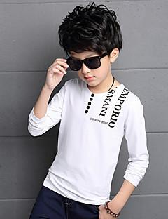 Poikien Painettu T-paita Päivittäin Puuvilla Raion Kevät Kesä Pitkä hiha Valkoinen Musta Viini