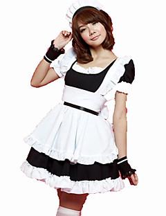 billige Halloweenkostymer-Stuepike Kostumer Cosplay Kostumer Dame Karneval Festival / høytid Halloween-kostymer Svart Rosa Ensfarget