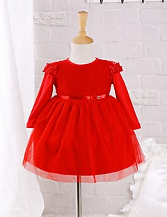 Baby Daily Solid Dress Cotton Nylon Spring/Autumn Dress