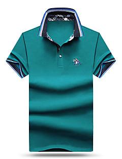 お買い得  メンズポロシャツ-男性用 Polo 活発的 シャツカラー ソリッド コットン