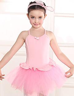 Balet Šaty Dětské Trénink Bavlna Krajka Jeden díl Krátké rukávy Přírodní Leotard 48,50,52,54,56,58