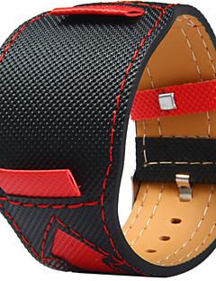 billige Ur Tilbehør-Canvas læder Urrem Strap for Sort 20cm / 7.9 Tommer 2cm / 0.8 Tommer