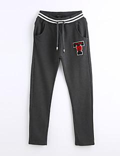 abordables -Femme Décontracté Taille Normale Micro-élastique Droite Chino Pantalon,Coton Automne Imprimé