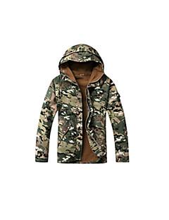 Uniszex Terepmintás vadász zakó Melegen tartani Szélvédő kabátok Felsők mert Kempingezés és túrázás Halászat Kerékpározás/Kerékpár Futás