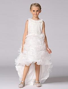 ieftine -rochie de mireasa rochie asimetrica rochie - organza gât de bijuterie fără mâneci cu brățară de mii