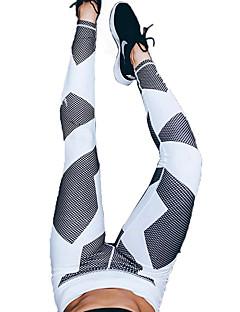 ヨガパンツ パンツ 高通気性 ビデオ圧縮 モイスチャーコントロール 快適 ナチュラルウエスト 伸縮性 スポーツウェア ホワイト 女性用 ヨガ ピラティス エクササイズ&フィットネス ランニング