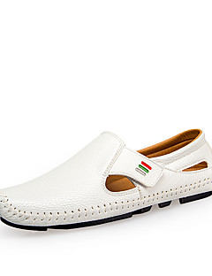 cheap -Men's Driving Shoes PU(Polyurethane) Spring / Summer Comfort Loafers & Slip-Ons White / Black / Dark Blue / Party & Evening