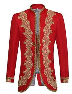 Prins Eventyr uniformer Cosplay Kostumer Mann Halloween Jul Karneval Nytt År Festival/høytid Halloween-kostymer Rød Ensfarget