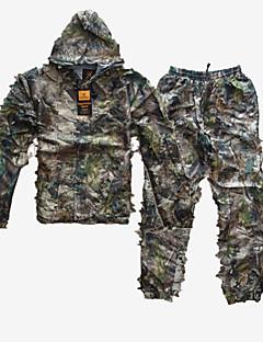 Herrn Jagdjacke mit Hose Windundurchlässig tragbar Kleidungs-Sets für Jagd Freizeit Sport Camouflage L XL XXL