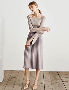 billige Kvinner Gensere-Dame Vintage Gatemote Pullover - Ensfarget, Delt