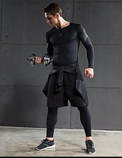 billiga Träning-, jogging- och yogakläder-Herr Rund hals Träningsoverall sporter Shorts / Byxa / Leggings Motion & Fitness, Löpning Långärmad Sportkläder Snabb tork, / Elastisk