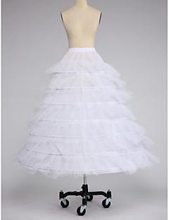 תחתונית  סליפ שמלת נשף אורך עד לרצפה 7 טפטה טול לבן שחור אדום
