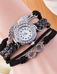 billige Armbåndsure-Dame Quartz Armbåndsur Sportsur Kinesisk Imiteret Diamant Ægte læder Bånd Vedhæng Kreativ Afslappet Kjoleur Mode Mangefarvet