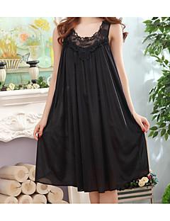 baratos Pijamas Femininos-Mulheres Algodão Chemise & Camisola Roupa de Noite - Fashion, Sólido / Cintura Alta / Solto