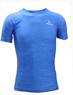 男性用 ランニングTシャツ 半袖 速乾性 人間工学デザイン 抗紫外線 透湿性 高通気性 モイスチャーコントロール 滑らか Tシャツ トラックスーツ トップス のために エクササイズ&フィットネス レーシング レジャースポーツ バドミントン ランニング ポリエステル